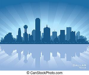 dallas, skyline, texas