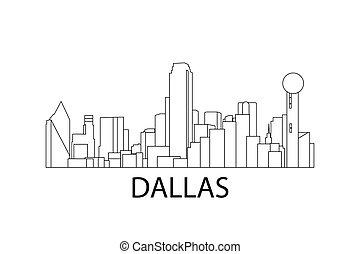 Dallas skyline. Vector illustration. Dallas, Texas, USA