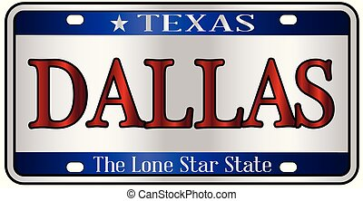 Dallas Texas License Plate - Dallas Texas state license...