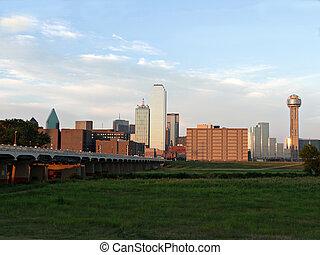 Dallas Texas Skyline - A view of downtown Dallas Texas fro ...