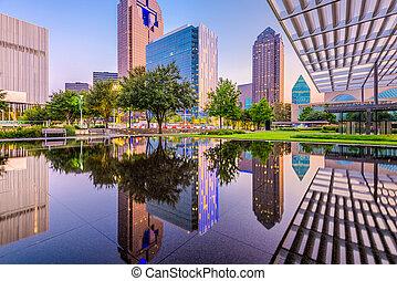 Dallas Texas USA - Dallas, Texas, USA downtown cityscape at ...