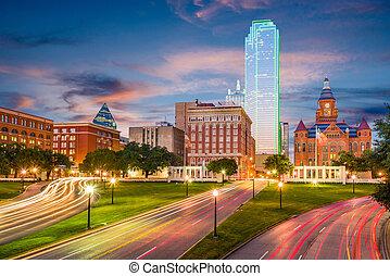 Dallas, Texas, USA Dealey Plaza - Dallas, Texas, USA skyline...