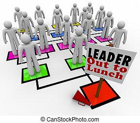 dall'aspetto, direzione, megafono, intorno, pavimento, mancante, segno, accanto, pranzo, grafico, senza, membri, squadra, organizzativo, lettura, condottiero, fuori