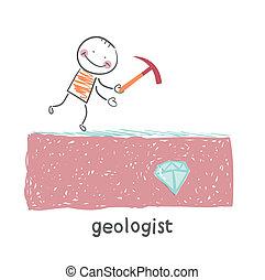 dall'aspetto, geologo, gemma