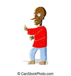 dall'aspetto, media, cartone animato, uomo