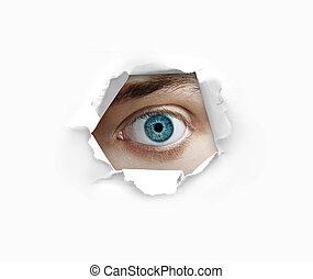 dall'aspetto, occhio