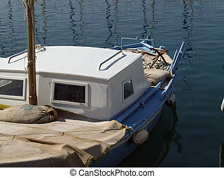 dalmácia, csónakázik, hagyományos