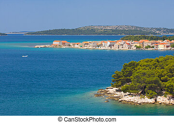 dalmatia, panorámico, croata, costa, vistas