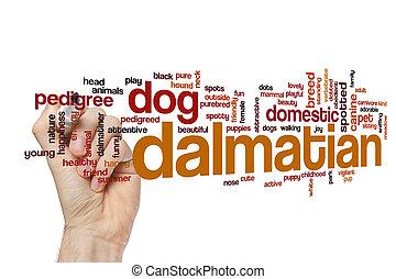 dalmatian, conceito, palavra, nuvem