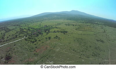 Dalmatian hinterland, aerial shot - Copter aerial view of...