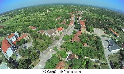 Dalmatian hinterland, aerial shot - Copter aerial view of ...