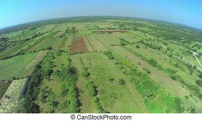 Dalmatian hinterland, aerial shot - Copter aerial view of...
