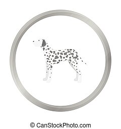 Dalmatian vector icon in monochrome style for web