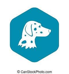 Dalmatians dog icon, simple style