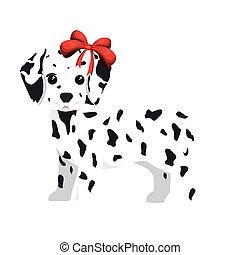 dalmatien, chien, dessin animé
