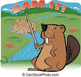 Dam Beaver - A beaver sharing his philosophy