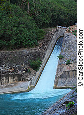 Dam for water in the lake