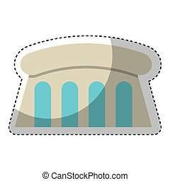 dam Hydroelectric isolated icon
