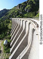 dam in Fedaia lake