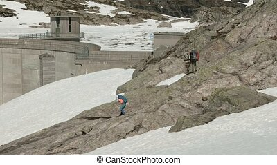 Dam in the mountains