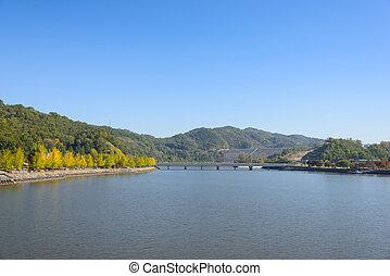 dam, korea, andong, aanzicht