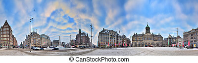 Dam square 360 panorama - Beautiful 360 degree HDR panorama...