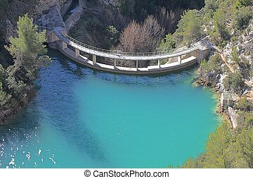 Dam wall in Bimont park, Provence