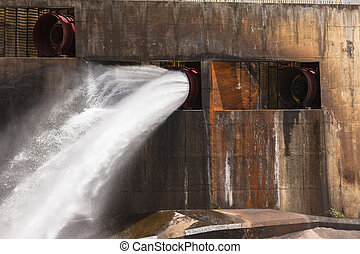 Dam Wall Water Power