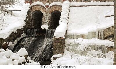 dam water flow snow