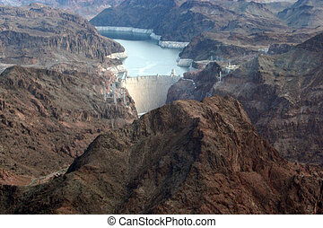 Dam3 - The Hoover Dam from above