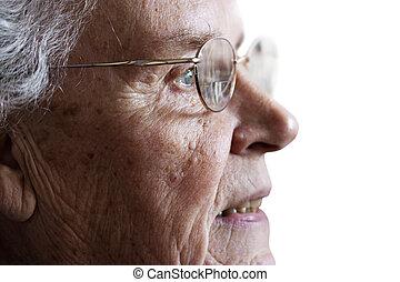 dama, 70\'s, anciano