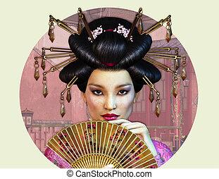 dama, asiático