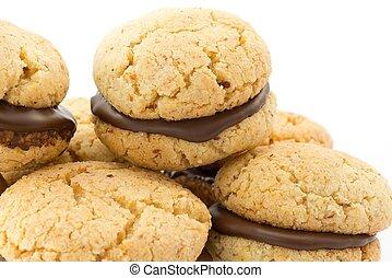 dama, baci, biscuits, di
