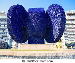 Dama de Elche sculpture in Valencia Avenida de les Corts at...