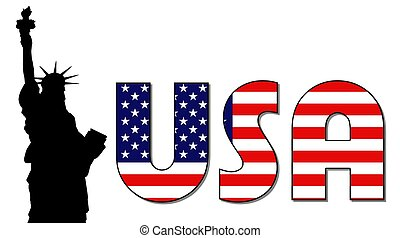 dama, estados unidos de américa, libertad