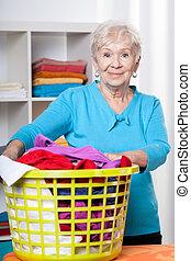 dama, lavado, elderdly