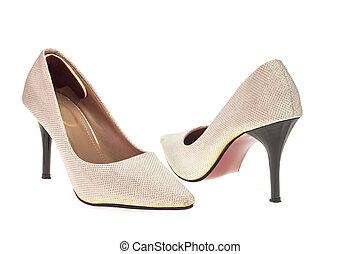 dama, moda, zapato