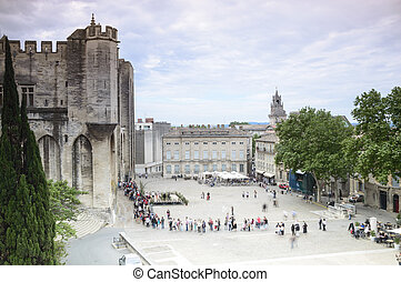 dama notre, des, francia, catedral, avignon, doms