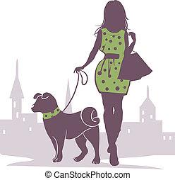 dama, perro