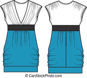 dama, vestido, fasion, a-line