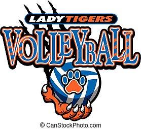 dama, voleibol, tigres