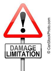 Damage liability concept. - Illustration depicting a...