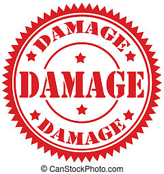 Damage-stamp - Rubber stamp with text Damage,vector...