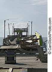 Damage to the Bouge Inlet Fishing Pier