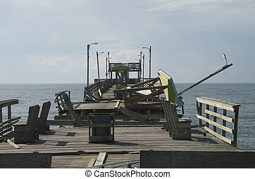 Damage to the Bouge Inlet Pier