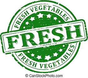 Damage to the green round stamped - fresh vegetables -...