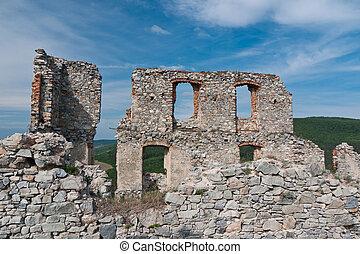 Damaged castle