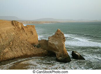"The damaged ""Cathedral Of Paracas"" after the earthquake in 2007. Paracas National Reserve, Peru, South America"