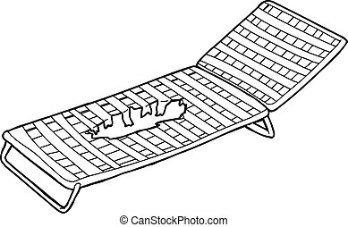 Damaged Deck Chair Outline - Outline drawing of damaged deck...