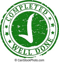 Damaged Green Stamp - completed, well done